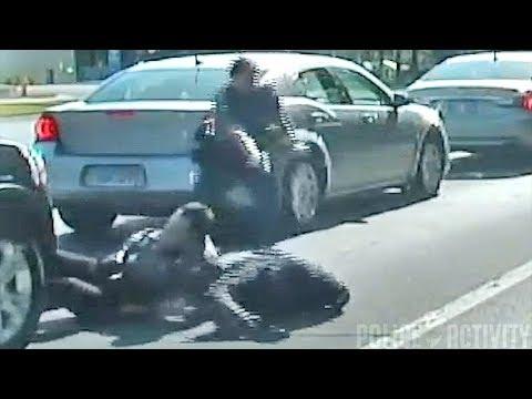 Полиция применила оружие после долгих пререканий водителя