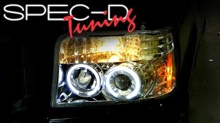 SPECDTUNING INSTALLATION VIDEO: 1992-1996 FORD F150 PROJECTOR HEADLIGHTS