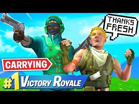 Carrying CUTEST Kid Ever in Fortnite!