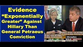 Judge Napolitano- FBI Hillary Deadline- Evidence Exponentially Greater than Patraeus Conviction