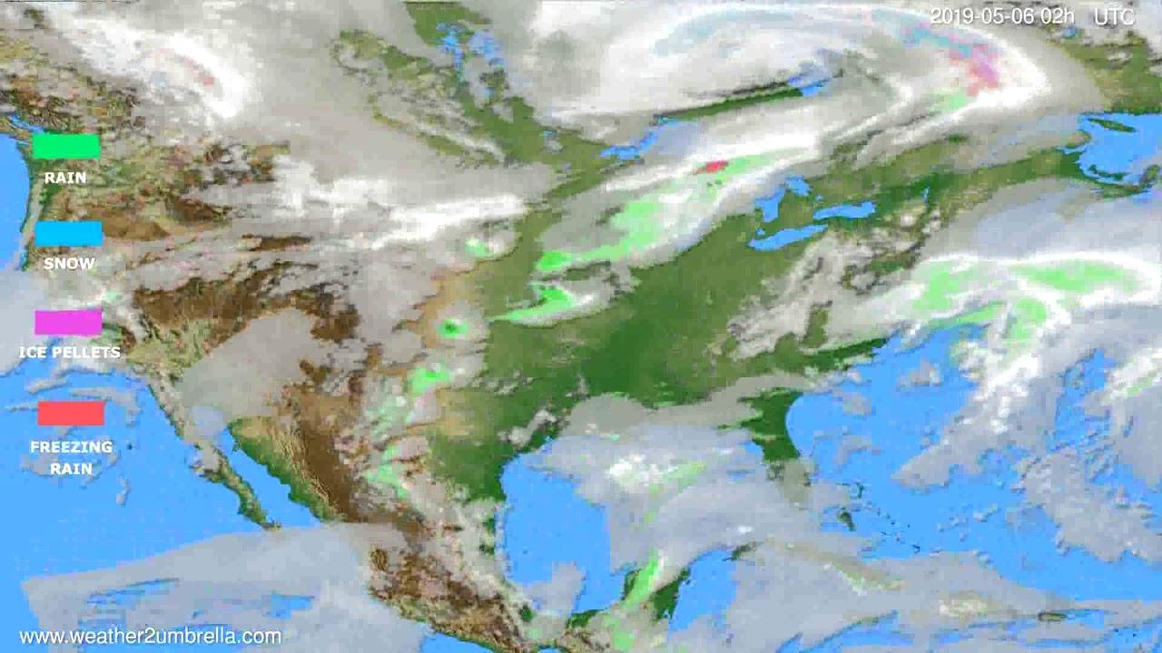 Precipitation forecast USA & Canada // modelrun: 12h UTC 2019-05-03
