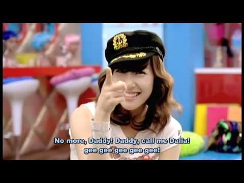 This is Gee by SNSD (Girls' Generation) with subtitles stating what I think