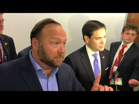 Marco Rubio and Alex Jones clash on Capitol Hill