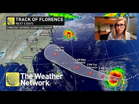 Hurricane Florence Latest Track - Details You Need To Know (September 10, 2018)