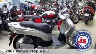 9. 2007 Kymco People s125 Silver motor scooter