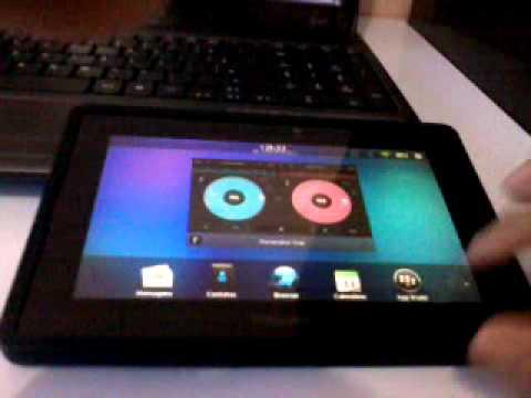 BlackBerry Playbook Rodando aplicativos Android.