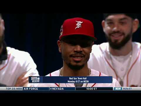 Video: Mookie Betts talks to fans at Red Sox town hall