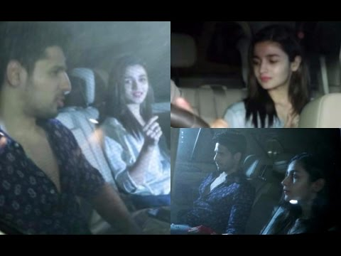 Alia Bhatt & Sidharth Malhotra Spotted At Dewin Builder Night Party
