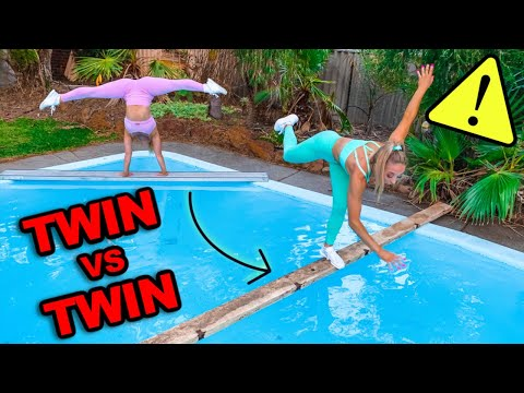 INSANE ACRO GYMNASTICS OBSTACLE COURSE!!! Twin VS Twin!