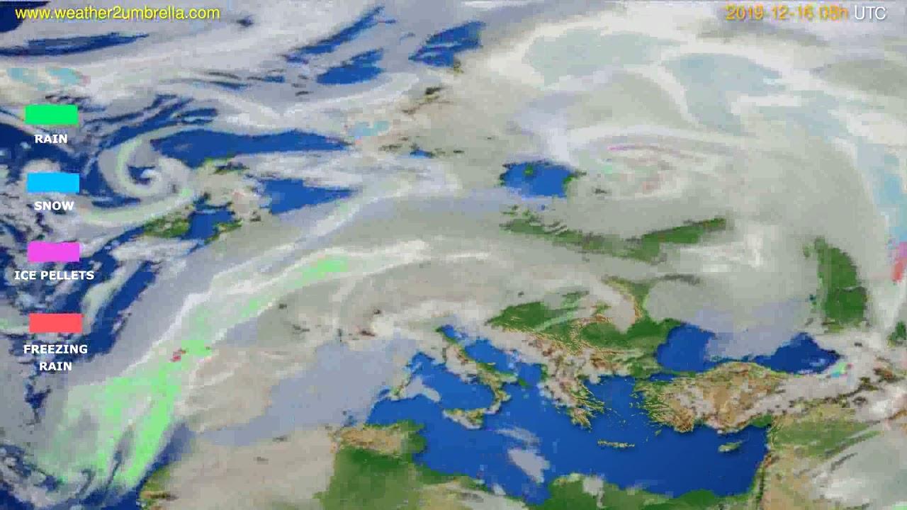 Precipitation forecast Europe // modelrun: 12h UTC 2019-12-15