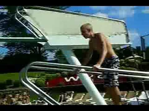 Divingboard tricks: Gainers, Doubles, back flips, and one and a halfs