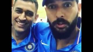 MS Dhoni and Yuvraj Singh Friendship and  partnership in India vs England , dhoni last day as captain, dhoni and yuvraj played great. dhoni 134, yuvraj singh 150 runs. india vs england,  kedar jadhav best innings, virat kohli fires as new captain.