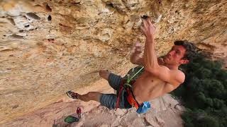 Tom Bolger - Victima Perez 9a Margalef by Chris Sharma