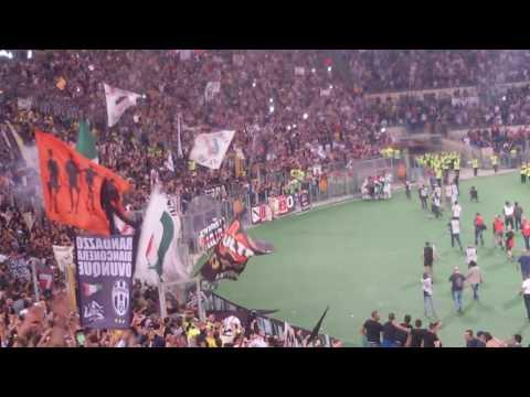 il gol di morata nella finale di coppa italia visto dalla curva nord