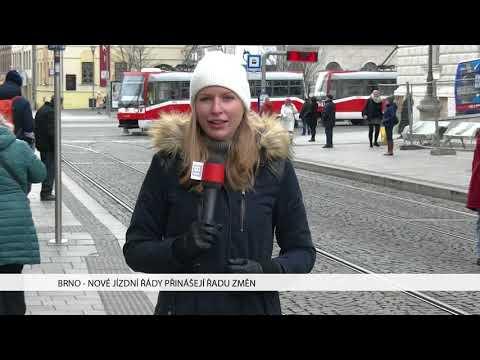 TV Brno 1: 11.12.2017 Nové jízdní řády přinášejí řadu změn
