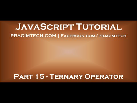 Ternary operator in JavaScript