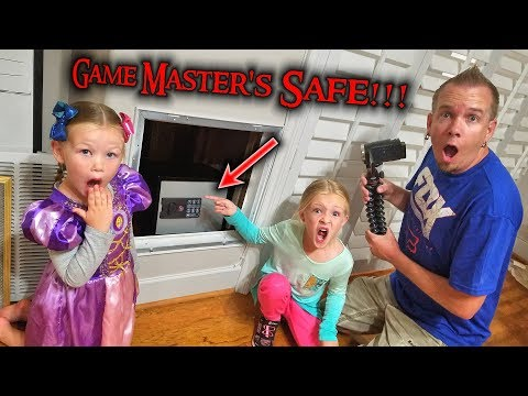 Game Master's Top Secret Abandoned Safe Found Hidden in Our House!!!