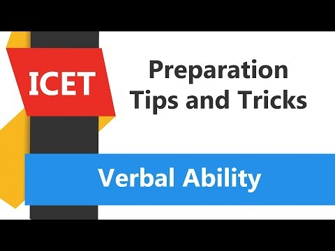 ICET Test Preparation 2018: Verbal Ability Problem-1