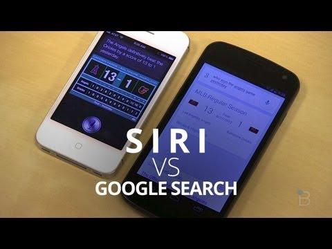 Siri vs. Google(語音搜尋) 同時比評測試