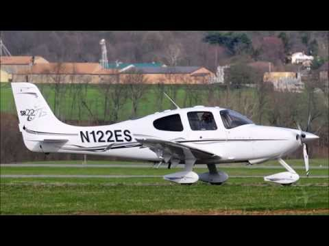 airport - A Cirrus SR22 N122ES collided with a helicopter at the Frederick Municipal Airport (KFDK) today - the Air Traffic Control Audio is disturbing - but a reminder to pilots to vigilant at all times.