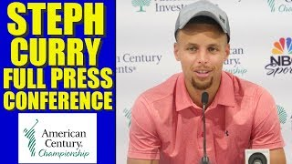 STEPH CURRY CLOWNS CHARLES BARKLEY !! Full Press Conference Warriors,  American Century Championship