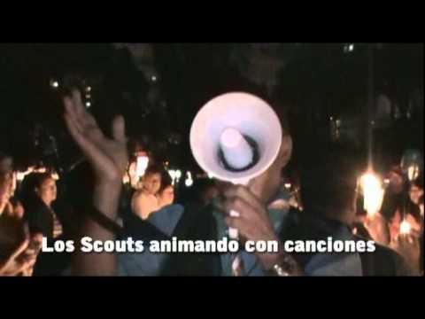 Los Boy Scouts de Lima iluminaron la noche en La Hora del Planeta