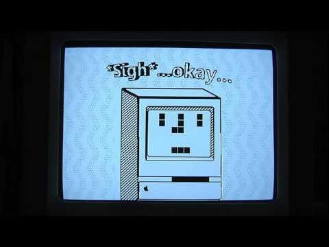 Animación en ensamblador hecha con un Mac Classic II