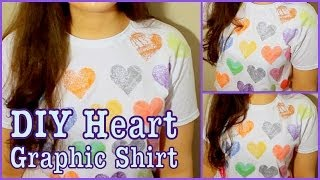 DIY: Graphic Heart T-Shirt! - YouTube