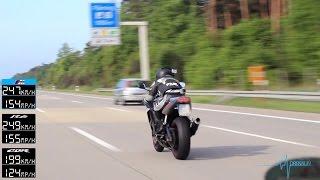 9. BMW M5 vs R6 vs CBR 600 RR - TOP SPEED - Part 1 [1080p]