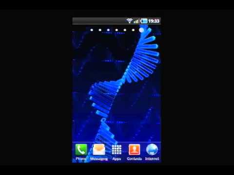 Video of 3D Android DNA LWP