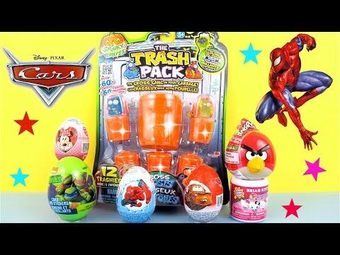 Cars Una aventura sobre ruedas Huevos Sorpresa, SPIDERMAN,MINNIE MOUSE Juguetes Toy College.