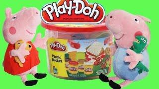Play doh Веселый пикник с Пеппа Пиг Плей до