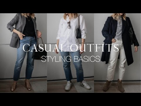 Styling basics: 8 casual outfit ideas   Capsule wardrobe lookbook