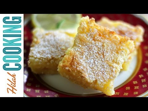hilahcooking - Learn how to make Lemon Bars with this easy video recipe. Full ingredients at http://hilahcooking.com/lemon-bars/ HILAH COOKING: New Episodes Every Tuesday a...