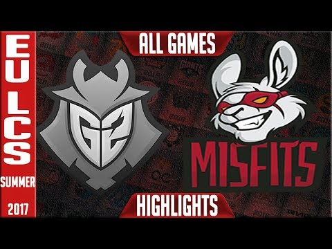 G2 Esports vs Misfits Highlights ALL GAMES EU LCS Grand Final Playoffs Summer 2017 G2 vs MF