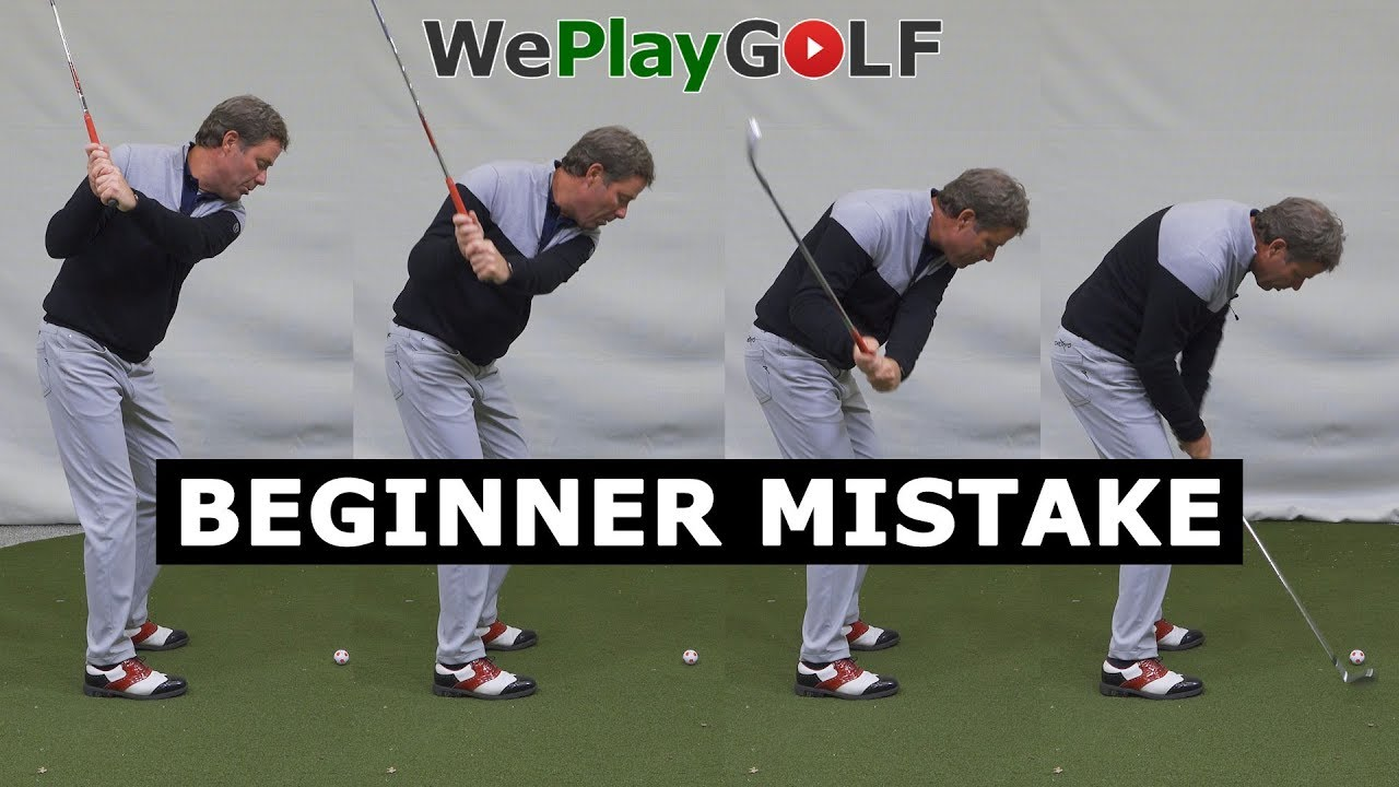 Golf beginner mistake: Don't go down on the golf ball