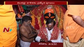CM KCR Visits Kali Mata Temple in Kolkata After Meet with Bengal CM Mamata Banerjee