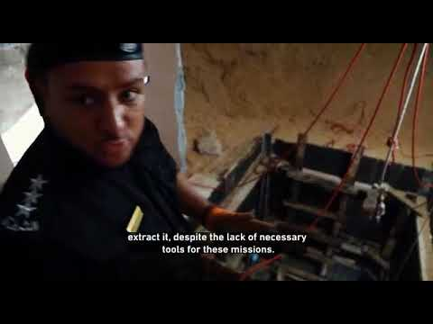 الشرطة الفلسطينية ومؤسسة يو أن ماس الدولية تُحيدان خطر قنبلة من مخلفات العدوان الإسرائيلي الأخير