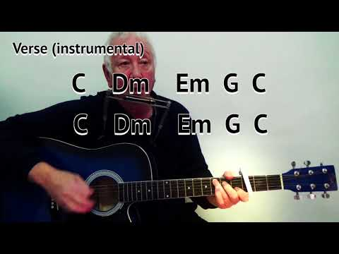 I Shall Be Released - Bob Dylan - cover - easy chord guitar lesson with on-screen chords and lyrics
