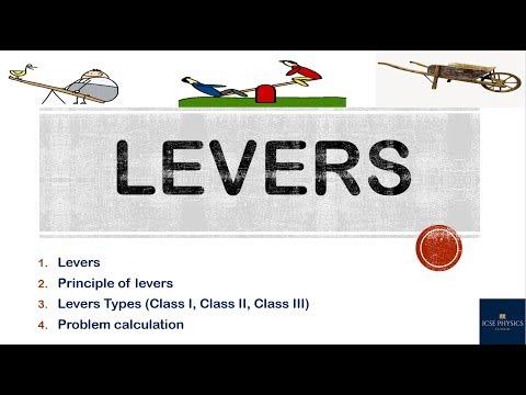 LEVERS  (MACHINES)