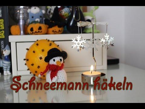 Schneemann häkeln zum 1. Advent