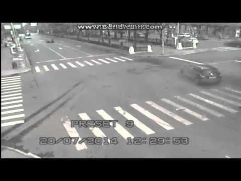 Авария на перекрестке в Перми