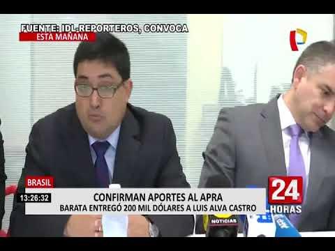 Odebrecht: Jorge Barata confirmó aportes a campañas electorales en el Perú (VIDEO)