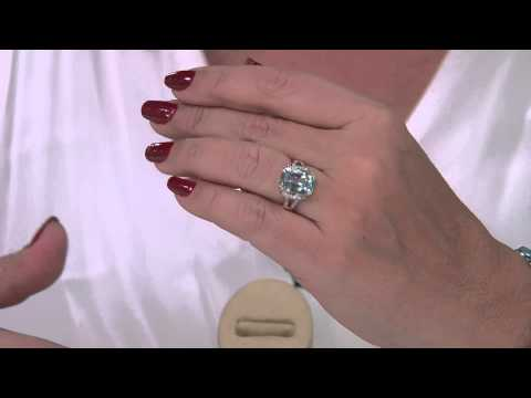 Premier 6.00ct Aquamarine & Diamond Ring 14K Gold with Antonella Nester