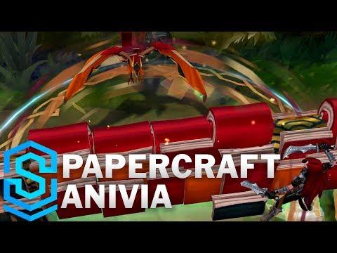 Anivia Tiên Hạc Giấy - Papercraft Anivia