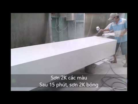 Sơn trên gỗ MDF dán nhựa melamine