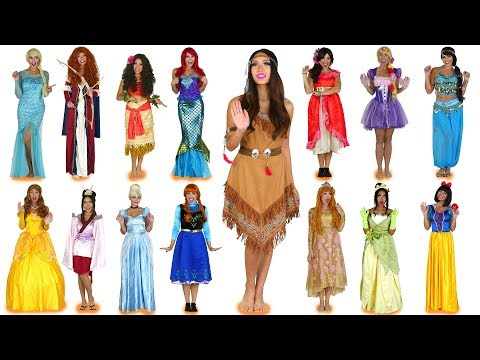 Every Disney Princess Costume Ever for Halloween. Totally TV