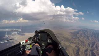 An 18 year old newer pilot was flying in a glider competition in a Zuni sailplane and the stick broke off in his hand at around 10,000 ft!  I retell the story of what happened while flying my ASW27 out of Utah.  When this event happened, I was on the ground at the El Tiro glider port visiting the soaring competition and listened to the young pilot going through this crazy actual emergency.  Watch the video to find out what happens.  Did he bail out of the damaged glider with his parachute or did he somehow stay in the aircraft and do an emergency landing?  I try to refly what this pilot ended up doing on this video and quickly chicken out.  Thanks for watching. Bruno - B4**  UPDATE ** It has been a little over 24 hours since I posted this video and it already has been watched over 20k times.  Cool!  So glad many of you have enjoyed it.  I was contacted by Eric - the pilot in this story and it was great to catch up and talk about this amazing flight again.  He thinks this flight happened around 2009 when he was 19.  He had about 200 hours flying gliders at that time.  He now flies for a regional airliner. :)  I would totally feel comfortable with him flying my family around!When the stick broke we was around 12k feet up.  He made a hard deck for himself to bail out if he didn't feel comfortable continuing to fly.  That gave him 10+ minutes of flying to really get a feel for what he could and couldn't do with the ship.  He decided to stay with the ship because he figured he would break his legs if he bailed out into the desert, or he could break his legs if he landed hard at an airport that had emergency services there on the field.  That might be considered right or wrong now, but that was his thinking and why he made the decisions he made.He flew over the airport mid field and then did a traditional downwind, base and final.  When he was on final he hit some strong sink and was afraid he might not make it to the runway.  He eventually touched down around mid field so this was not a problem.  His airspeed was pretty hot at touchdown.  Eric remembered it being around 70-80 knots with partial landing flaps (not full landing flaps) and he said it was actually a nice light touch down.  Good thing because at those speeds, he could have easily bounced and lost control.  His right wing tip dropped and he did go off the side of the runway ripping off a gear door with a runway light.  No other damage to the plane.Emergency crews got there within seconds and were demanding to know where the fuel was and where was the engine.  They had a hard time understanding it was a glider.What I got out of talking with Eric on the phone tonight was that first, the dude is still a total stud!  Nice flying and working through the problem man.  Second, he spent a good amount of time working through the problem when he was still up high and had time to make the choice to stay in or bail out.  I asked him if he would do it differently today if he had to fly that flight again, and he said no - he would do the same thing again.  It wasn't to save the aircraft or insurance money, it was thinking that bailing out over the Arizona desert in an unsteerable emergency chute that drops like a ton of rocks would likely get him hurt in the middle of nowhere.  I'm just glad the whole thing worked out.  Thanks again Eric for filling in the holes in my memory and thanks everyone for watching!  Bruno - B4