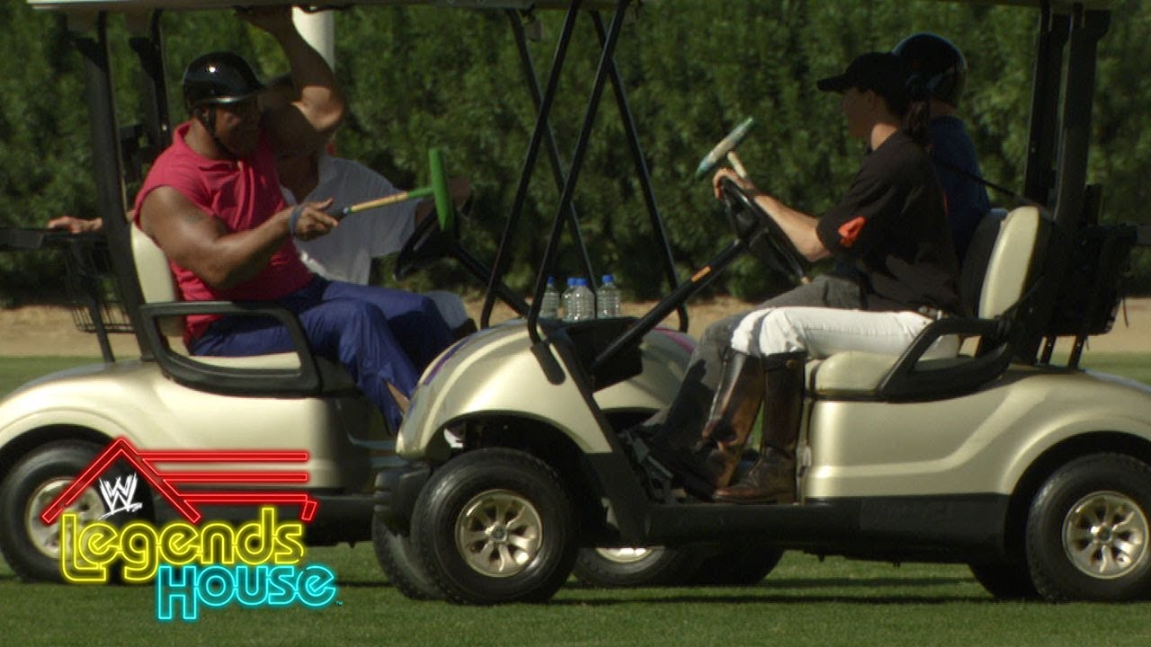 The Legends face off in a furious polo competition, al-a-cart: WWE Legends' House, April 24, 2014