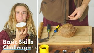 Video 50 People Try to Crack Open a Coconut | Epicurious MP3, 3GP, MP4, WEBM, AVI, FLV Maret 2019